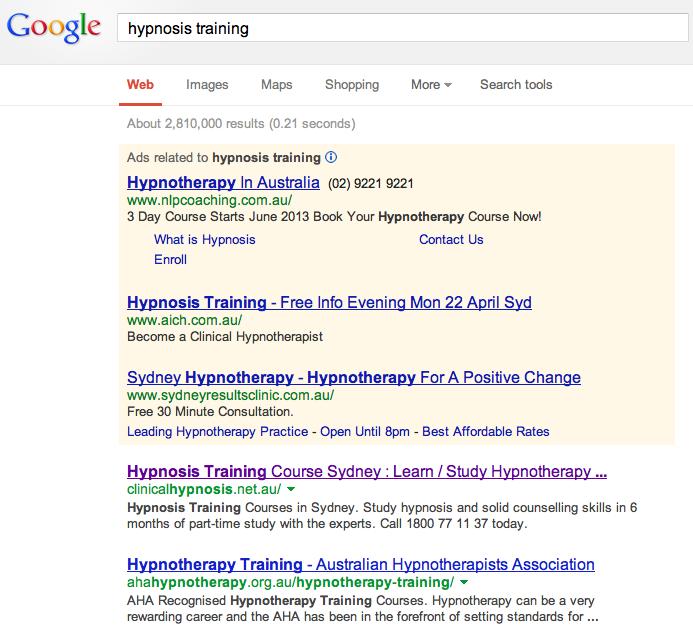 hypnosis training sydney australia