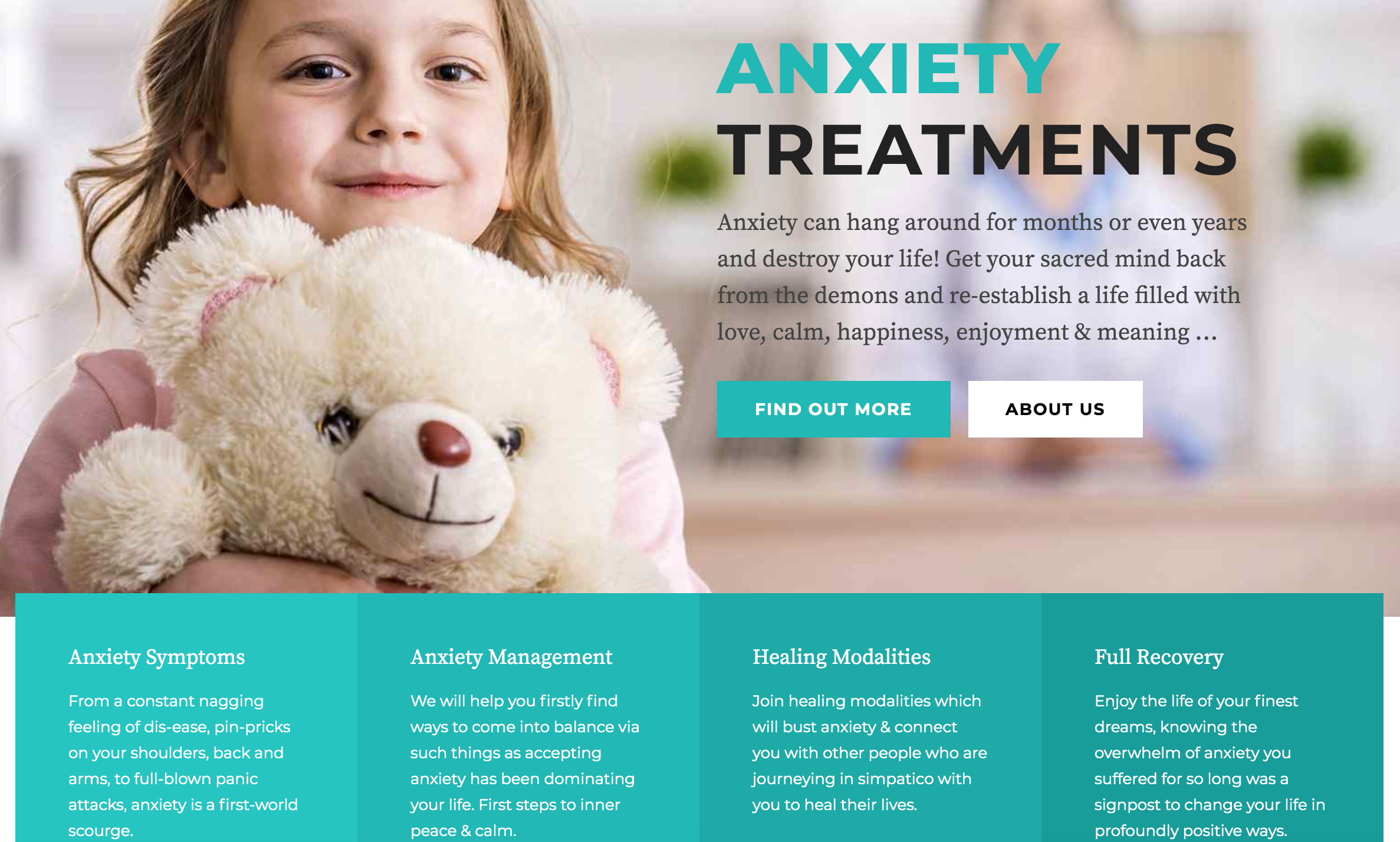 anxiety treatment website sydney melbourne brisbane perth canberra